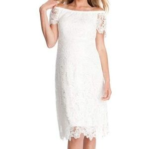 Seraphine Clementine Lace Off-the-shoulder Dress